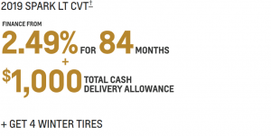 FINANCE FOR $44 WEEKLY AT 2.49% FOR 84 MONTHS WITH $1,995 DOWN PAYMENT1 + GET 4 WINTER TIRES