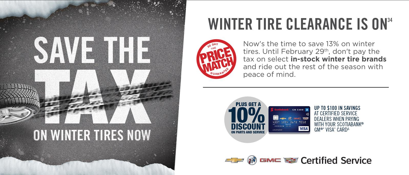 Save The Tax On Winter Tires