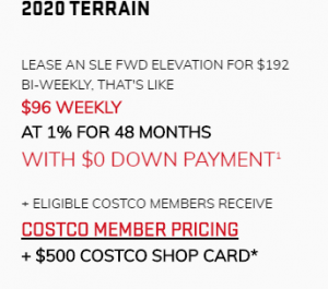 2020_GMC_Terrain 0% FINANCING FOR UP TO 84 MONTHS + $2,400 TOTAL VALUE ON A DENALI MODEL