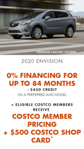 2020 Buick Envision Special Offers Incentives Old Mill GM Toronto