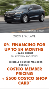 2020 Buick Enclave Special Offers Incentives Old Mill GM Toronto