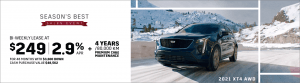 Old Mill Cadillac 2021 XT4 Special Offers and Incentives Toronto GTA