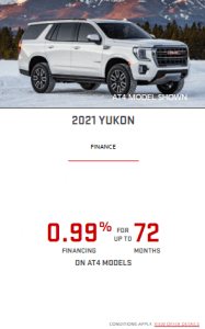 2021 Yukon Special Offers Incentives GTA Toronto Old Mill GM